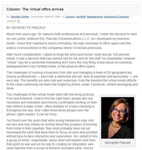 Column; The virtual office arrives Image